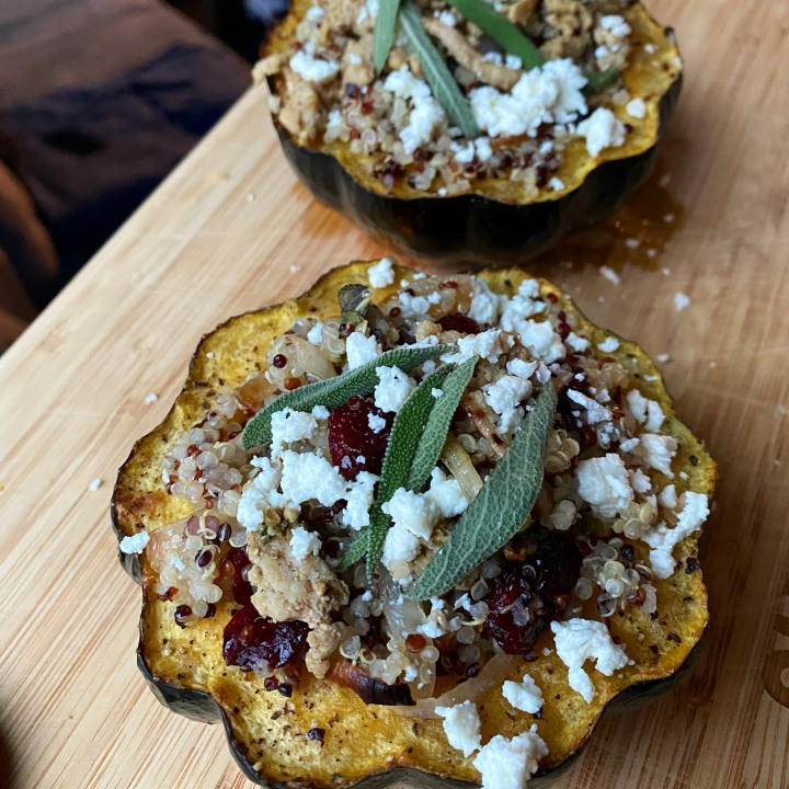 Quinoa Stuffed AcornSquash